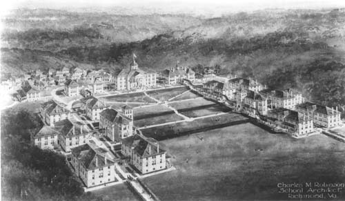 Sketch of proposed campus, 1908