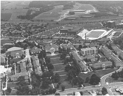 Aerial of Campus in the 80s
