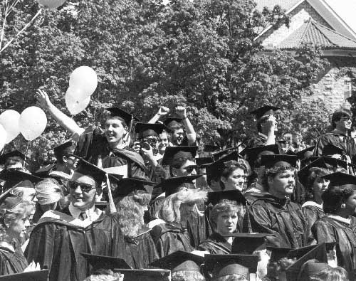 Graduation in the 80s