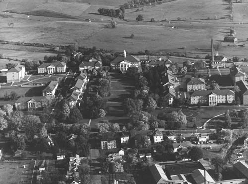 Aerial of Campus in the 1960s