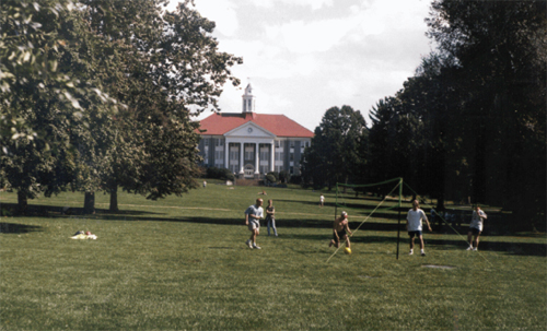 Students on the quad, late 90s