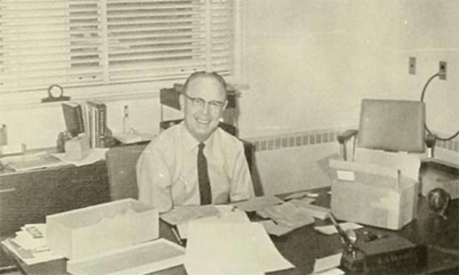 Photo of Dr. D in his office