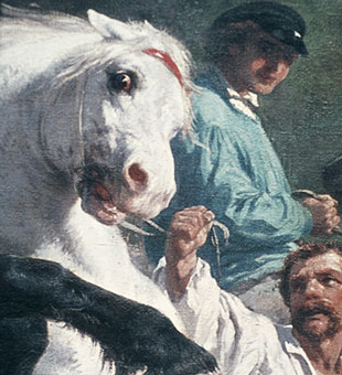 Detail from The Horse Fair