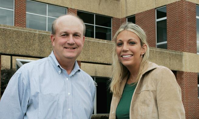Tiffany Gricher and business professor Steve Welpott