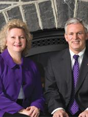 JMU President Jon Alger and First Lady Mary Ann Alger