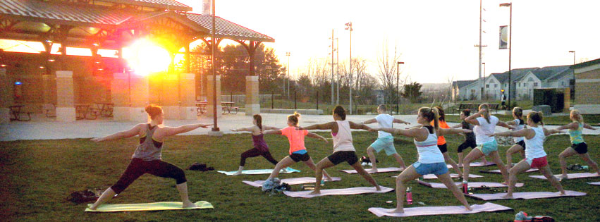 Image: Outdoor Yoga at University Park