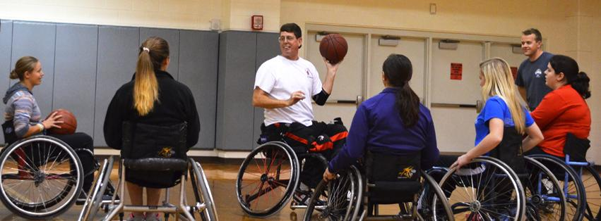 Image: Partnering with Adaptive Sports to bring Wheelchair Basketball to JMU