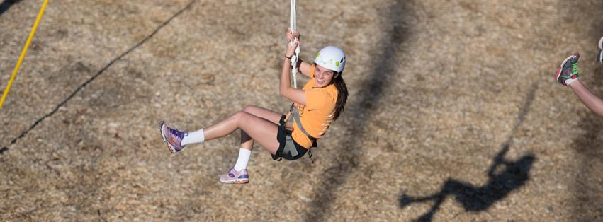 Image: Zipline at the TEAM Challenge Course