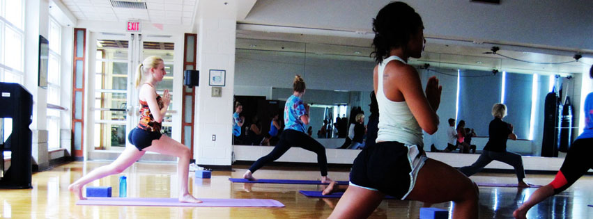 Image: Yoga in the UREC Group Fitness Studio