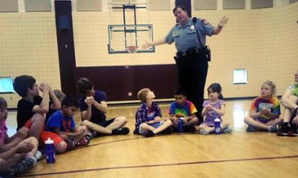 Police Talking to Kids