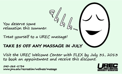 UREC Massage Coupon