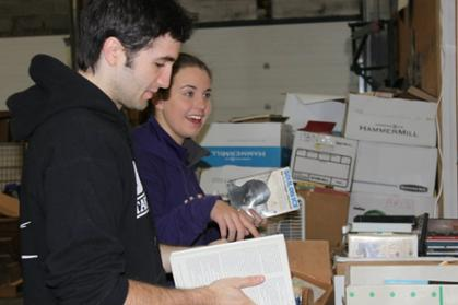Students volunteered at Booksavers of VA