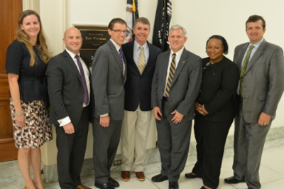 More than 2,500 current JMU students call the district of U.S. Representative Rob Wittman (center) home.