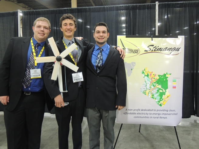 Students Participating in National Collegiate Wind Competition