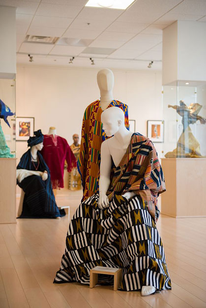 Part of the Dress and Identity in African Culture exhibit