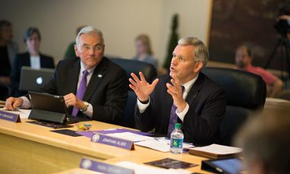 President Alger at the Oct. 4, 2013 Board of Visitors meeting