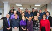 President Alger poses with participants in the Leadership for Supervisors workshop on Nov. 20, 2013.