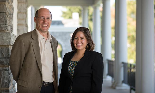 Michelle Amaya and professor Steven Reich