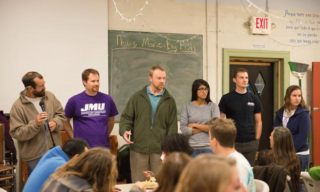 Photo of JMU student panel on Ask a PA Night