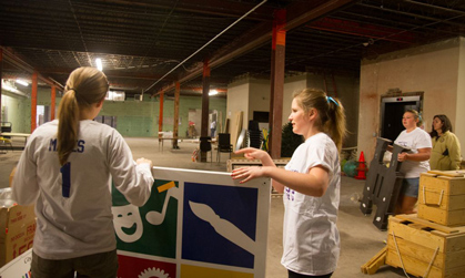 JMU students helped clean space for new exhibits at the Explore More Discovery Museum