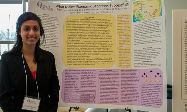 Shevy Chaganti presents research at War to Peace conference poster session