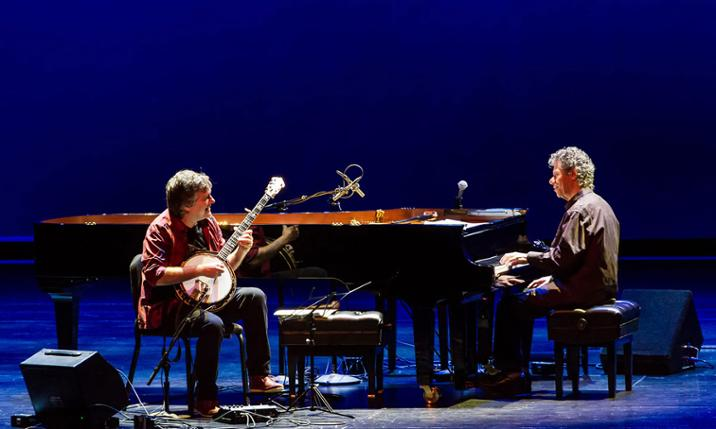Photo of Chick Corea and Bela Fleck courtesy of the Real Chicago dot com
