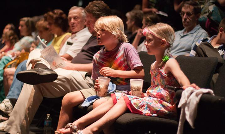 Audience enjoys a production at JMU Children's Theatre