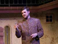 JMU theater major George Dippold ('14) on stage