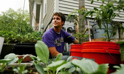 Nick Geer visits Collicello Urban Gardens in Harrisonburg.