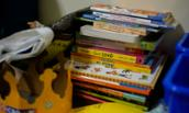 Photo of some of the book resources at Healthy Families