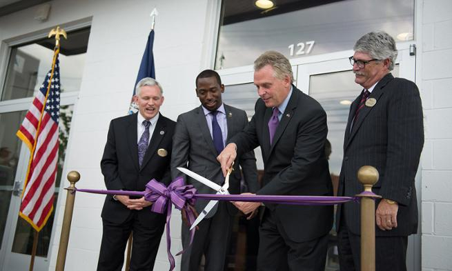 Ice House Ribbon Cutting: Jon Alger, Levar Stoney, Governor Terry McAuliffe, Jim Shaeffer