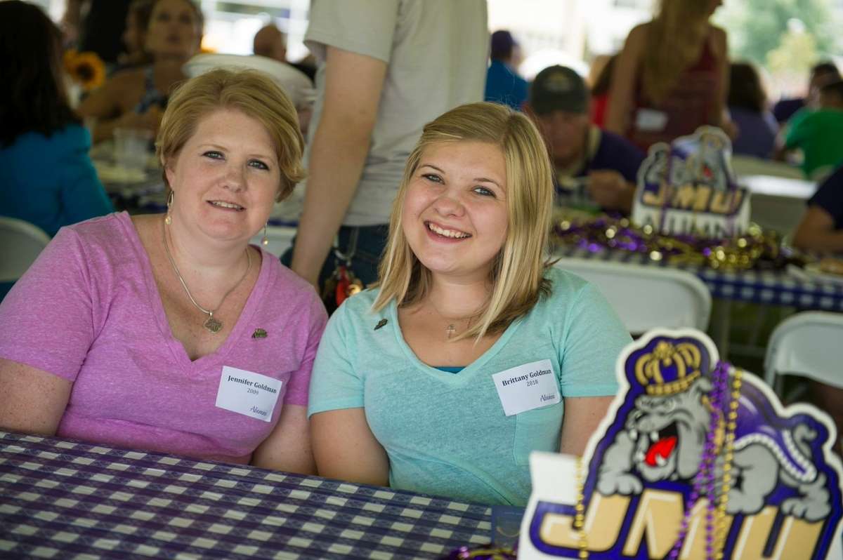 Photo of mother and daughter at Legacy Lunch