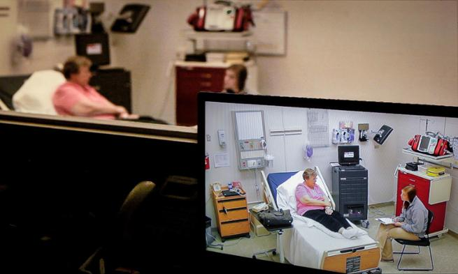 Photo of Psychiatric nursing simulation at JMU