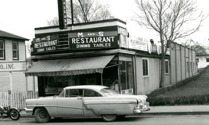 M & S Restaurant, North Main Street, 1962  (photograph courtesy of  Harrisonburg Redevelopment and Housing Authority)