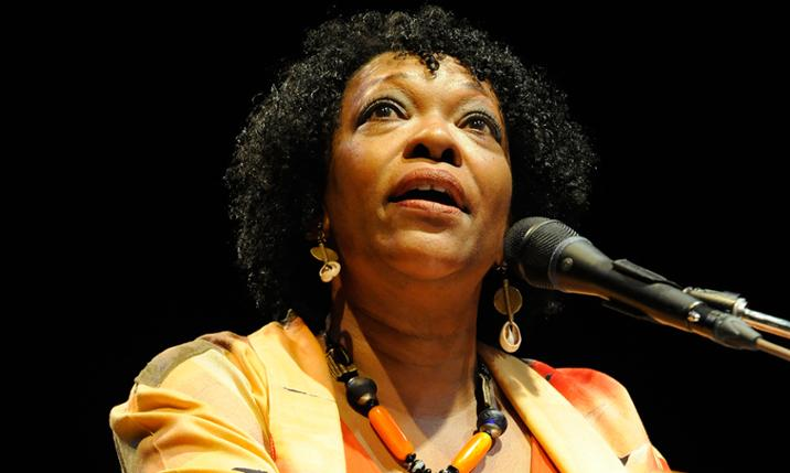 Rita Dove on the JMU campus in 2010