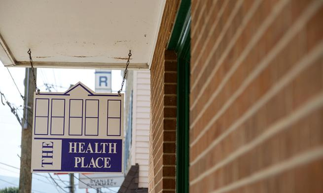 Photo of The Health Place sign, home to Healthy Families Page County
