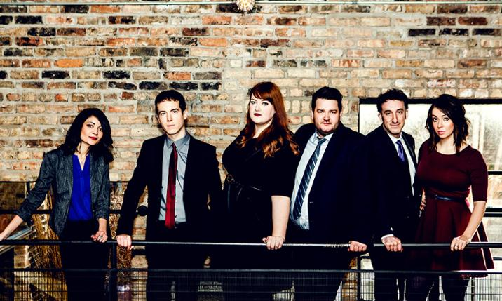 Photo of Second City cast by Kirsten Miccoli