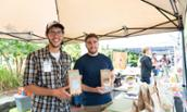 Ryan Gormley and Scott Goldschmidt promote their product, Shenandoah Crunch