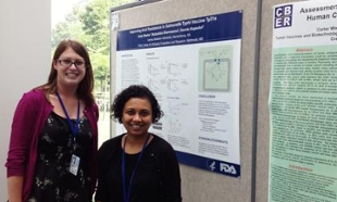 Carly Starke and her mentor at FDA Dr. Madushini Dharmasena