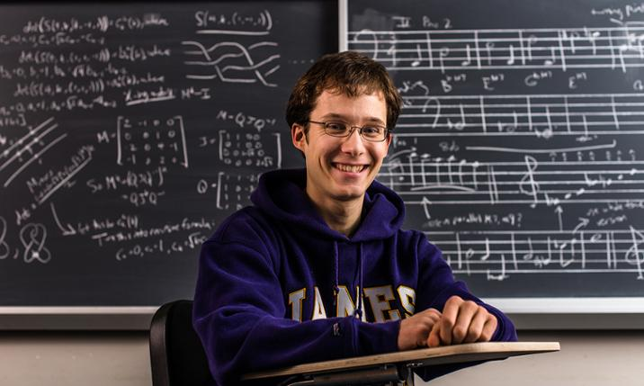 Ryan Stees, Honors student, math and music composition major, Dingledine Scholar