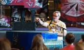 Phil Vassar interacts with audience while teaching master class at JMU