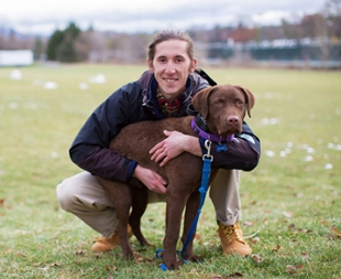 Matt Ferramosca and his dog, Moose
