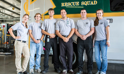 JMU Students at the Harrisonburg Volunteer Rescue Squad