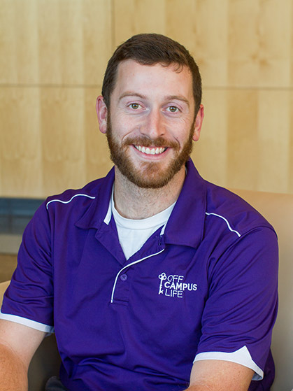 Profile of JMU student and Graduate Assistant Roy Kelly