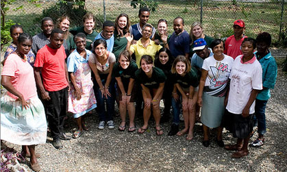 JMU students participate in an Alternative Spring Break trip in Jamaica
