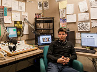 Inside the WXJM Studio at JMU