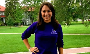 Junior Sara Saenz on the Quad in Fall 2012.