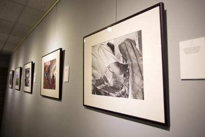 Picture of photographs hanging in the Warren Nook gallery at JMU.
