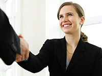 On-Campus Recruiting - Shaking Hands