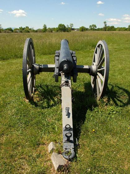 Photo of a Civil War cannon